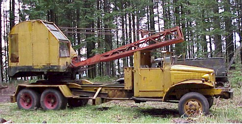 1945 International 6X6 w/insley crane